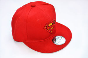 Cotton Blank Baseball Cap Flat Leather Brim Snapback Cap pictures & photos