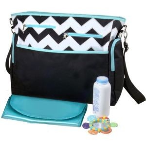 Promotional Baby Diaper Bags with Big Front Pockets and with Hook pictures & photos