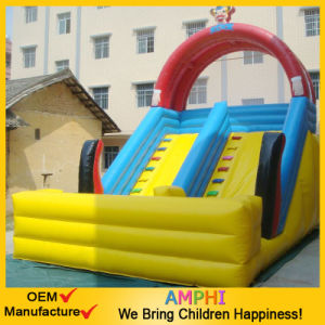 Factory Price Double Lane Inflatable Vertical Rush Slide for Fun