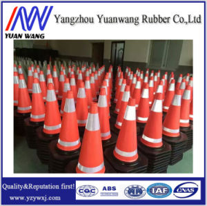 China Factory Colour Blue Orange Yellow PVC Traffic Road Safety Cone pictures & photos