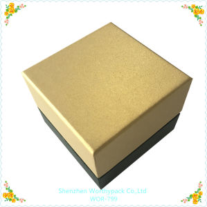Cardboard Gift Box with Golden Paper Coated with Grey Board