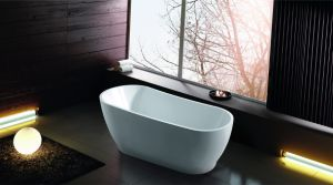 (K1527W) Freestanding Acrylic Bathtubs / Massage Whirlpool Bathtubs pictures & photos