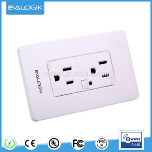 Z-Wave Wall Mount Socket Outlets 3 Pin Wall Light Switch pictures & photos