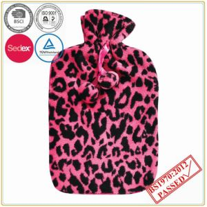 Leopard Design Coral Fleece Hot Water Bottle Cover pictures & photos