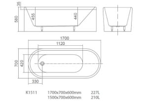 Acrylic Freestanding Bathtub with Stainless Steel Frame Support pictures & photos