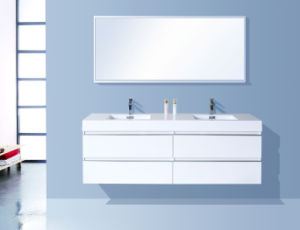 Microscler Painting Bathroom Cabinet Glossy White