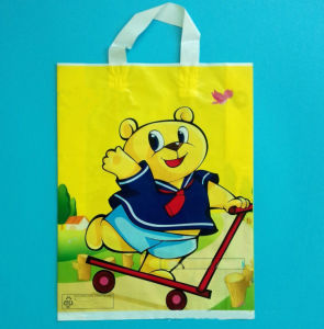 Customized Design Soft Loop Handle Plastic Shop Bag pictures & photos
