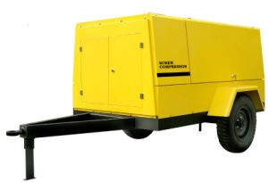 Mobile Wheels Diesel High Pressure Portable Screw Compressor (PUD17-13) pictures & photos