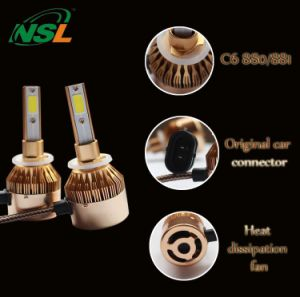 Auto Parts, LED Cars Headlights Motorcycle Headlight Golden H4 H13 9004 (9007) H1 H3 H7 H8 H9 H11 9005hb4 9006hb3 880 881 H15 9012 pictures & photos