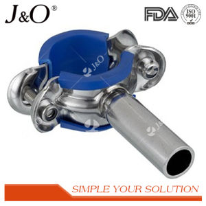 Sanitary Stainless Steel Pipe Support Pipe Holder with Blue Insert pictures & photos