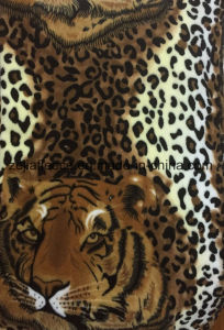 Super Flannel with Tiger Print pictures & photos
