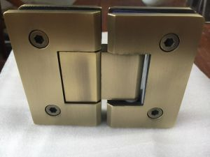 Double Cylinder Shower Hinge Glass Fitting (CR-Y04-T) pictures & photos