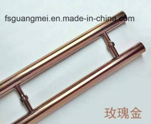 304 Stainless Steel Door Handle Tube with Middle Satin Pull Handle (GM-804) pictures & photos