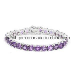 Fashion Silver Amethyst Jewelry Bracelet (BR0015) pictures & photos