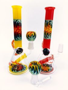 Hbking 8inch American Color Downstem Baker Base Perc Glass Smoking Water Pipe pictures & photos