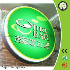 Factory Direct Sale Wall Mounting Round LED Lightbox Outdoor Sign pictures & photos