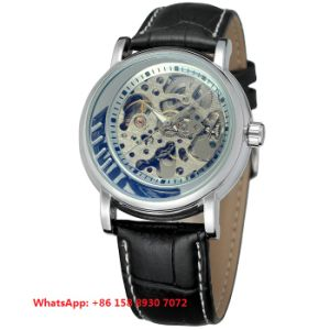 Awesome Smart Automatic Men′s Watches with Genuine Leather Strap Fs637 pictures & photos