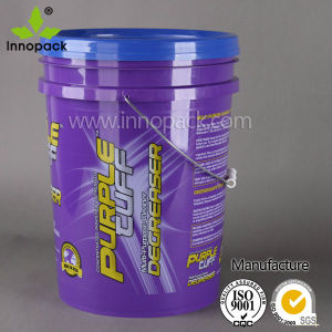 HDPE Round Paint Plastic Bucket with Handle 20L for Industrial Packaging pictures & photos