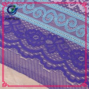 Floral 100 Polyester Cheap Mesh Lace Fabric Rolls pictures & photos