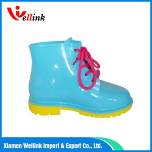 Ankle Waterproof Rain Boots for Ladies pictures & photos