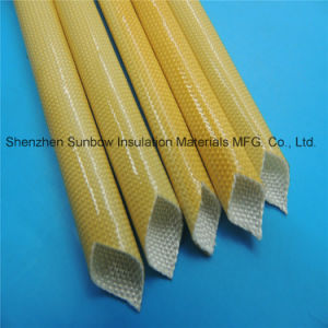 F Class Amber Color PU Varnished Fiberglass Braided Electric Wire Insulation Sleeves pictures & photos