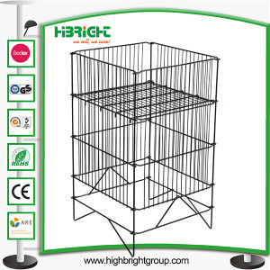 Easy Fold Pop up Promotion Table Wire Basket pictures & photos