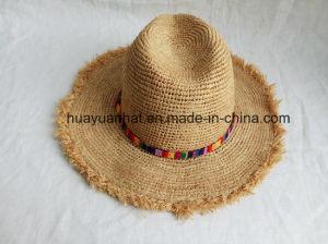 100% Raffia Straw with Tassel Edge Safari Hats pictures & photos