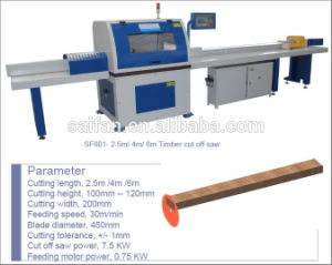 Sf601 Automatic Wood Timber Cut off Saw pictures & photos