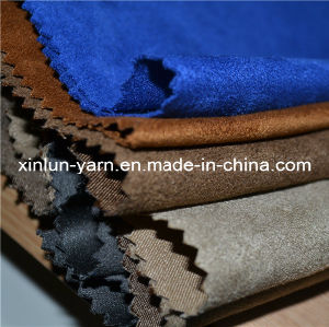 100% Polyester Suede Fabric for Sofa Clothes Shoes pictures & photos