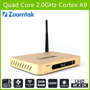 Amlogic S812 Quad Core Kodi Smart TV Box T8plus with Android 4.4 Dual WiFi pictures & photos