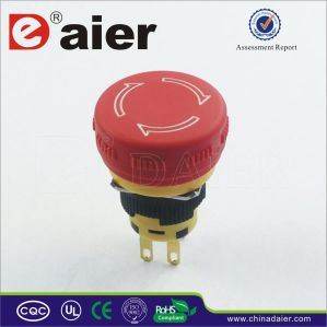 Dpst Waterproof Mushroom Button Emergency Stop Switch (A16-20SR-F) pictures & photos