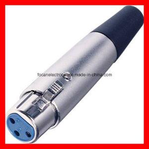 Microphone Connector, XLR Cannon Audio Plug pictures & photos