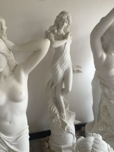 White Marble Stone Body Sculpture for Garden Decoration pictures & photos