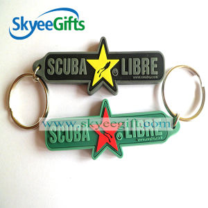 New Gift Custom 3D Double-Sided Soft PVC Keychain pictures & photos
