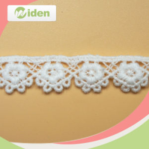 White Cotton Chemical Embroidery Lace Trim pictures & photos