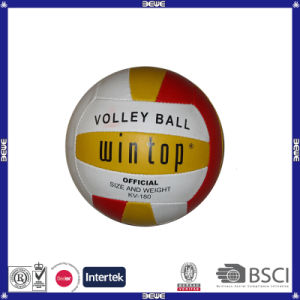 Machine Stitched PVC Leather Customized Logo Volleyball pictures & photos