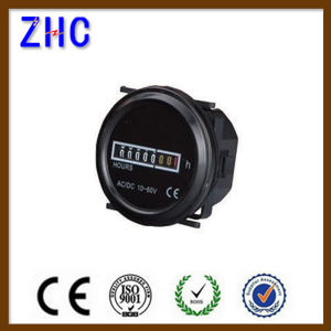 180-240V AC Round Hour Meter 10-60VDC with LED Light for Many Machines pictures & photos