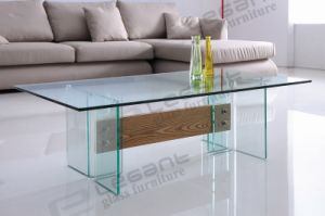 2015 New Design Glass Coffee Table Displayed in Shanghai Fair pictures & photos
