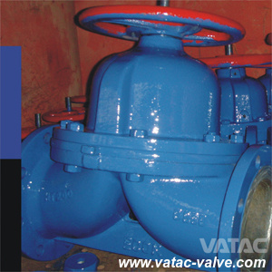 Cast Steel Handwheel RF Flanged Weir Diaphragm Valve pictures & photos