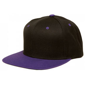 Custom Black Two Tone Fashion Flat Brim Snapback Cap pictures & photos