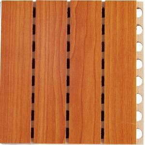 Fireproof Veneer Grooved Wooden Acoustic Wall pictures & photos