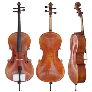 Master Level European Material Carved Top Solid Cello pictures & photos
