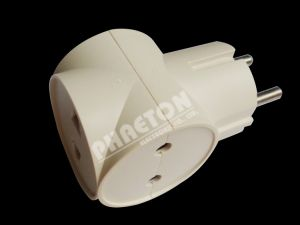 AC Power Plug for 2 Pin Plug to 3pin Jack Adaptor pictures & photos