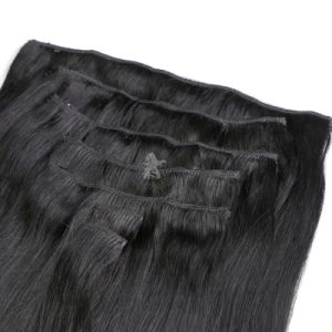 100% European Human Virgin Clip in Hair Extension pictures & photos
