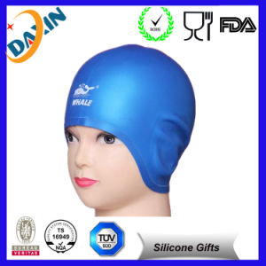 Novelty Printing Silicone Swim Cap, Ear Protection Swim Cap pictures & photos