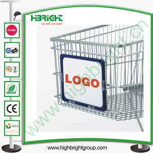 Shopping Trolley Frame Board with Advertising Paper pictures & photos