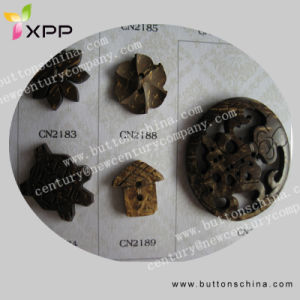 Dark Color Coconut Shell Button Shell Buckle pictures & photos