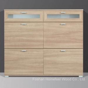 Modena Royal Walnut Wooden Shoe Cabinet (HF-EY0814) pictures & photos