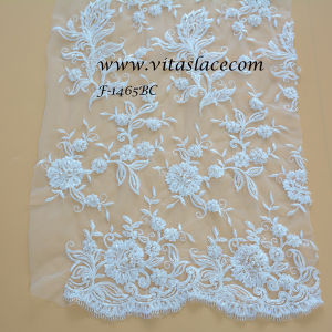 2016 White/Ivory/Black/Pink/Red Rayon Wedding Lace Fabric F-1465bc