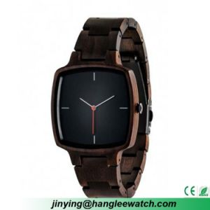 OEM Square Wooden Table Black Wood Watch pictures & photos